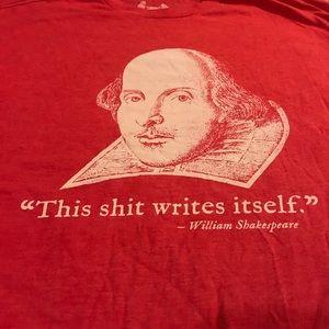 Rare Shakespeare shirt size- L